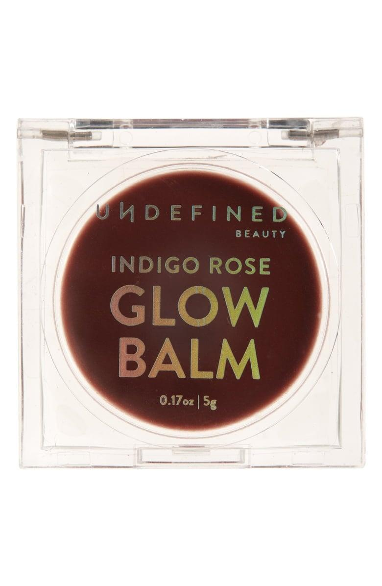 <p>The <span>Undefined Beauty Glow Balm CBD Lip Treatment</span> ($26) gives your lips a sheer, deep berry tint, thanks to real fruit in the formula. </p>