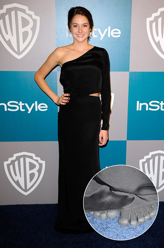 Shailene Woodley arrives at 13th Annual Warner Bros. and InStyle Golden Globe Awards After Party at The Beverly Hilton hotel on January 15, 2012 in Beverly Hills, California.  (Photo by Kevork Djansezian/Getty Images)