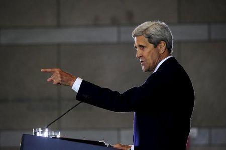 U.S. Secretary of State John Kerry delivers a speech on the nuclear agreement with Iran, in Philadelphia, Pennsylvania, September 2, 2015. REUTERS/Charles Mostoller