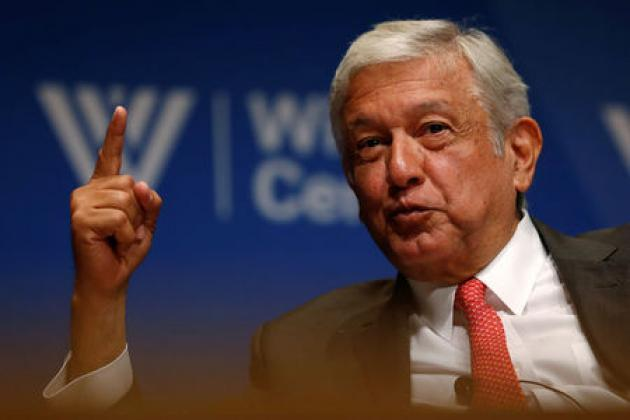 Mexican presidential hopeful Lopez Obrador says he would revise oil contracts