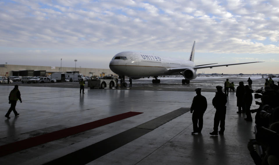 United Airlines has charter flight contracts with NFL teams. (AP Photo/Mel Evans)