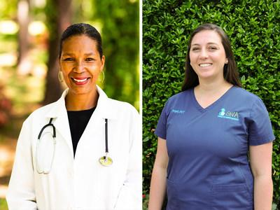 Heroes to animals: Dr. Terry Morris and Angel Martin.