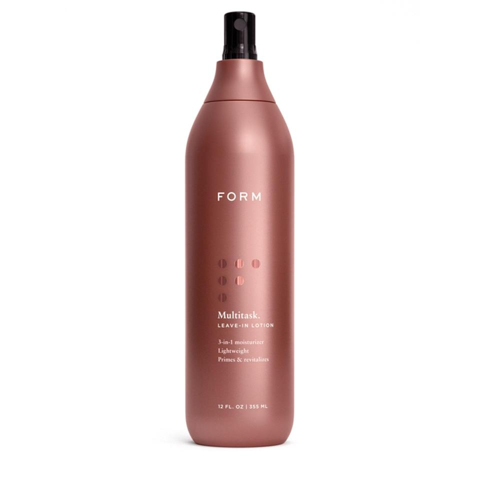 """<p>This Beauty Multitask Leave-in Lotion from <a href=""""https://www.allure.com/review/form-beauty-multitask-leave-in-review?mbid=synd_yahoo_rss"""" rel=""""nofollow noopener"""" target=""""_blank"""" data-ylk=""""slk:Form"""" class=""""link rapid-noclick-resp"""">Form</a> gives your curls more bounce than a trampoline. The lightweight formula is made with coconut oil, shea butter, and argan oil that pack your strands with hydration and glorious elasticity. Use it to detangle, as a daily refresher, or a simple moisturizer for the most poppin' curls ever.</p> <p><strong>$32</strong> (<a href=""""https://formbeauty.com/products/multitask"""" rel=""""nofollow noopener"""" target=""""_blank"""" data-ylk=""""slk:Shop Now"""" class=""""link rapid-noclick-resp"""">Shop Now</a>)</p>"""