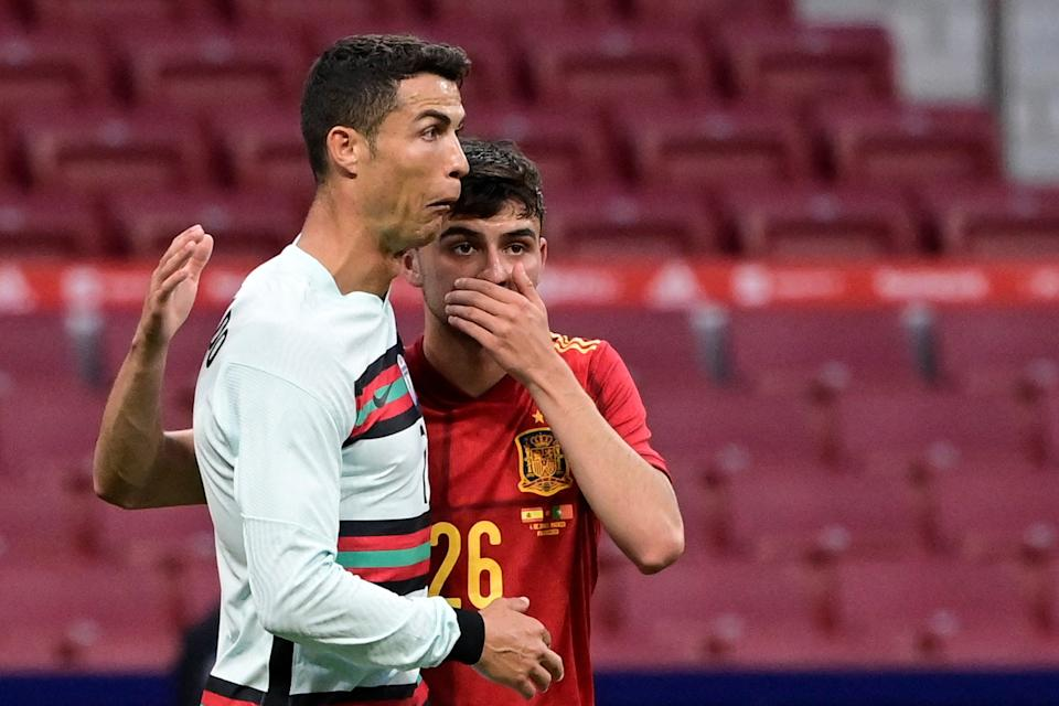 <p>Ronaldo couldn't find the net on his Madrid comeback</p> (AFP via Getty Images)