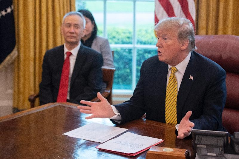 All signs point to the US and China closing in on a trade deal after nine rounds of high-level talks between the two economic giants (AFP Photo/Jim WATSON)