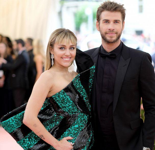 PHOTO: Miley Cyrus and Liam Hemsworth attend The 2019 Met Gala Celebrating Camp: Notes on Fashion at Metropolitan Museum of Art in New York, May 06, 2019. (Dimitrios Kambouris/Getty Images, FILE)