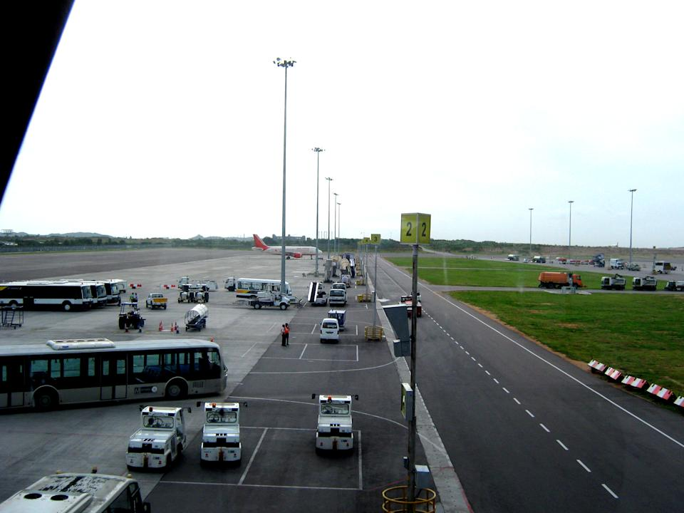 Last but not the least, Hyderabad's Rajiv Gandhi Hyderabad International Airport witnessed <b>3.3 million</b> air arrivals, an increase of 6 percent in total arrivals in first quarter 2012 over same time last year. There were over 6.5 million arrivals in the first 6 months. (Photo: Anil Bharadwaj/Wikimedia Commons)