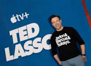 """Apple TV+ comedy """"Ted Lasso"""" -- which stars Jason Sudeikis -- is expected to do well on Emmys night (AFP/VALERIE MACON)"""
