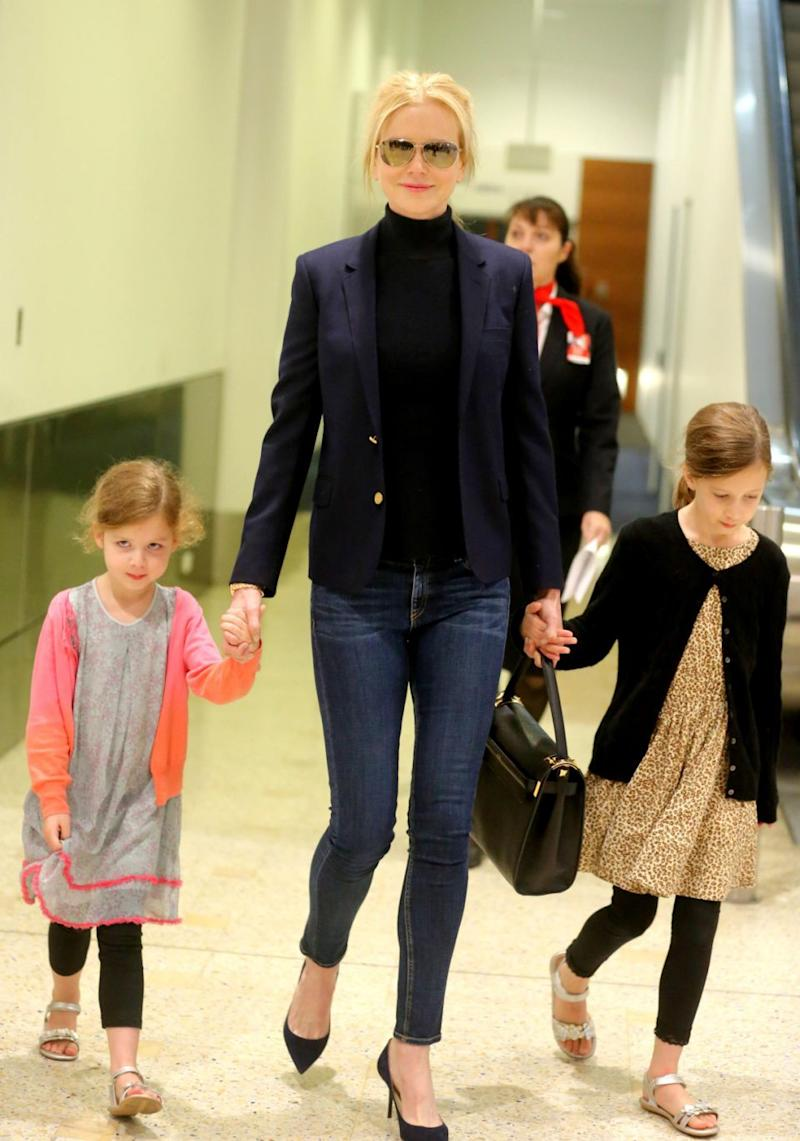 The 50-year-old has two daughters, Sunday Rose and Faith Margaret, with current husband Keith Urban. Source: Getty