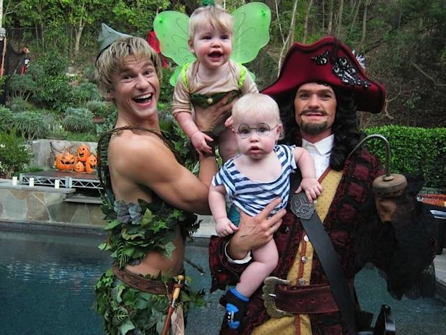 <p>NPH and his hubby are fantastic at finding costumes that also include their 6-year-old twins, Harper and Gideon. One of the best: a <i>Peter Pan</i> theme. (Photo: Instagram/nph) </p>