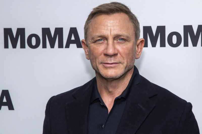 "Daniel Craig attends the opening night of the ""In Character: Daniel Craig,"" film series at the Museum of Modern Art, Tuesday, March 3, 2020, in New York. (Photo by Charles Sykes/Invision/AP)"