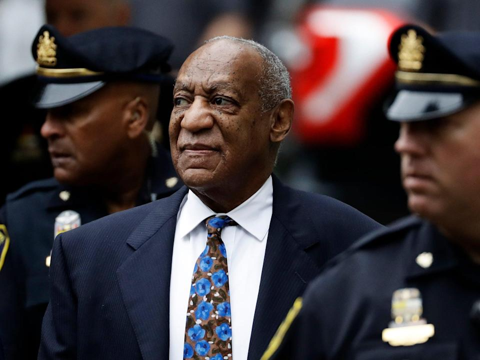 Bill Cosby arrives for his sentencing hearing at the Montgomery County Courthouse, in Norristown, Pennsylvania, on 24 September 2018 (AP)