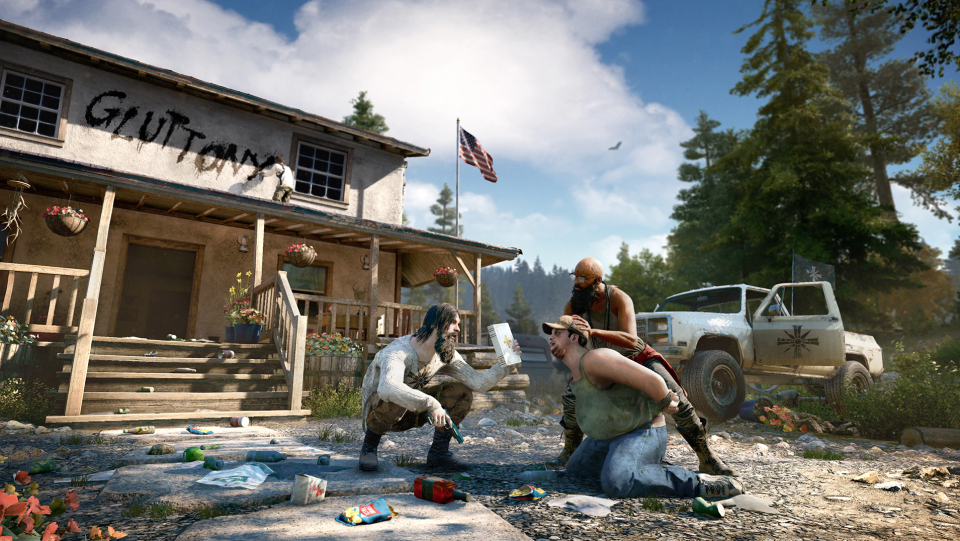 The Peggies in 'Far Cry 5' are often forced to join the cult against their will.