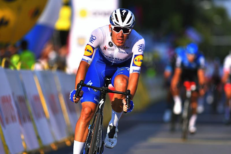 Davide Ballerini of Deceuninck-Quick-Step finishes third on stage 2