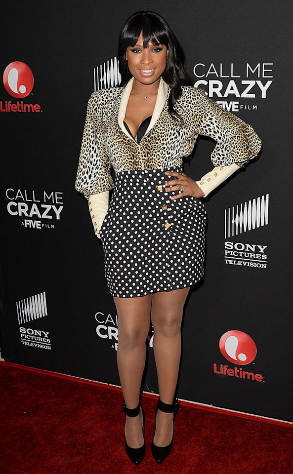 "Jennifer Hudson attends the premiere of Lifetime's ""Call Me Crazy: A Five Film"" at Pacific Design Center on April 16, 2013 in West Hollywood, California."