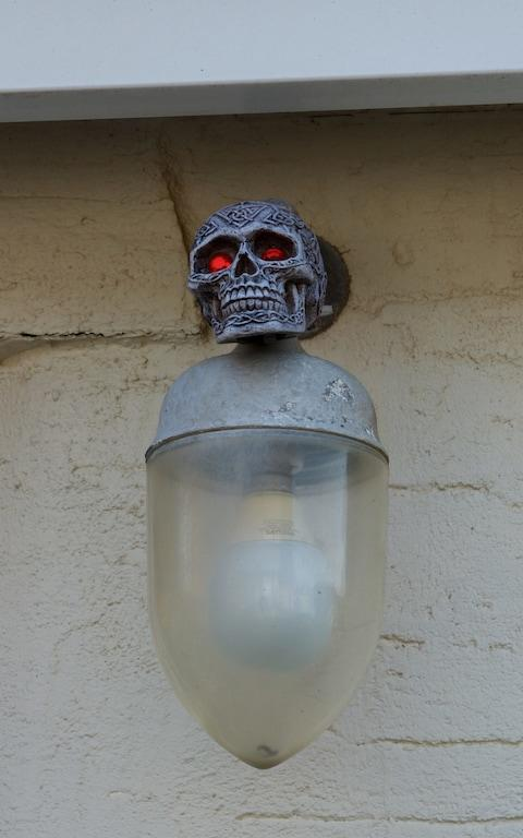 Skull on wall - Credit: Warren Smith