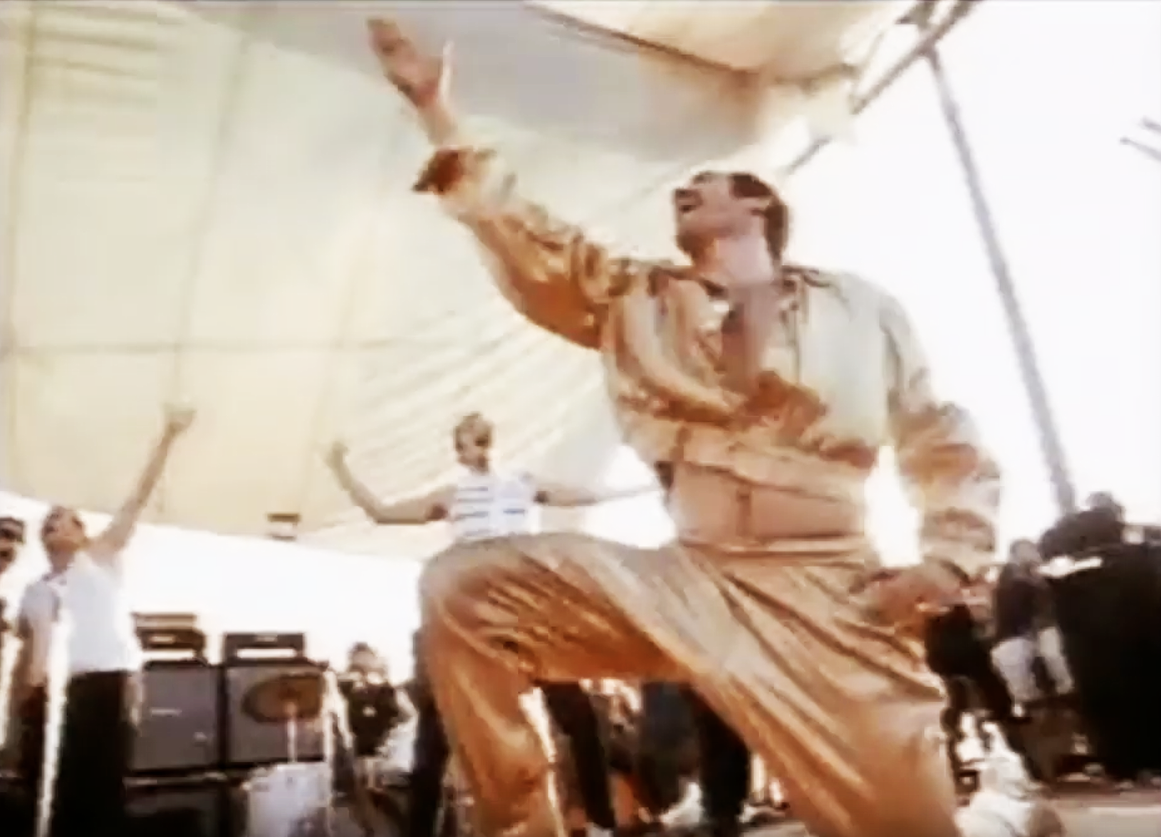 "Sha Na Na performing ""Duke of Earl"" at Woodstock 1969. (Photo: YouTube)"