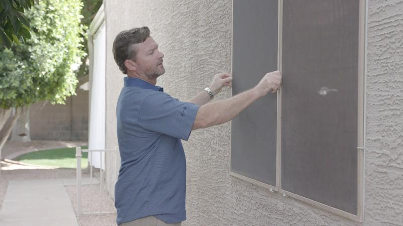 Exterior shade screens provide greater protection than interior blinds and shades because they limit the amount of heat that can enter the home in the first place, says Martin.
