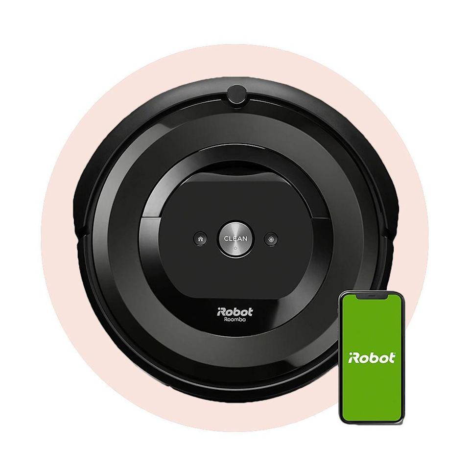 """<p><strong>iRobot</strong></p><p>amazon.com</p><p><strong>$299.00</strong></p><p><a href=""""https://www.amazon.com/dp/B07QNM7YDM?tag=syn-yahoo-20&ascsubtag=%5Bartid%7C2089.g.34449251%5Bsrc%7Cyahoo-us"""" rel=""""nofollow noopener"""" target=""""_blank"""" data-ylk=""""slk:Shop Now"""" class=""""link rapid-noclick-resp"""">Shop Now</a></p><p>When it comes down to it, a robot vacuum needs to be three things: agile, thorough, and versatile. This <a href=""""https://www.bestproducts.com/appliances/small/a32882791/irobot-roomba-e5-robot-vacuum-review/"""" rel=""""nofollow noopener"""" target=""""_blank"""" data-ylk=""""slk:Roomba robot vacuum"""" class=""""link rapid-noclick-resp"""">Roomba robot vacuum</a> is all that and then some. It's the best robot vacuum you can buy for its ability to navigate, clean both hard flooring and carpet, and its repairability.</p>"""