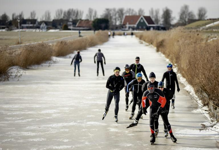 Dutch skater Henk Angenent tries to recreate the 'Elfstedentocht', a classic canal race he won when it was last held in 1997