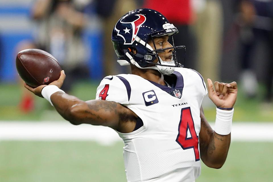 Deshaun Watson led the NFL with 4,823 yards passing in 2020.
