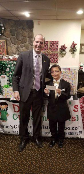 PHOTO: Dominic raises money and supplies for his campaign year round, and he recently threw a charity event where he raised $1800. (Rose Marie Miller)