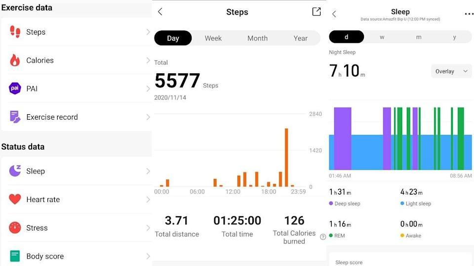 Steps and sleep data in app. Image: Author provided