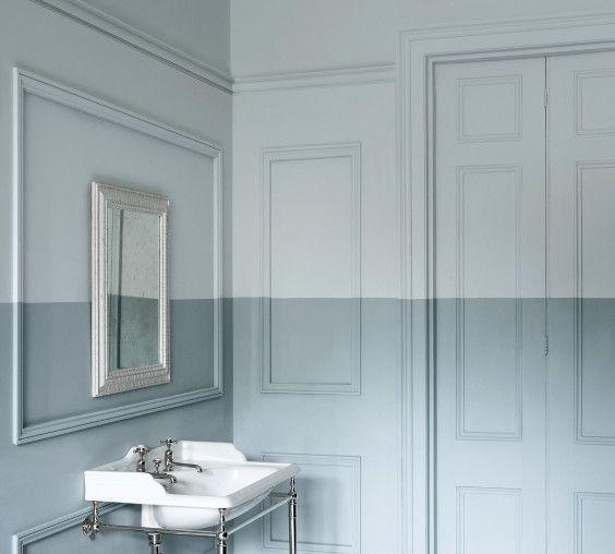 """<p>There are always clever ways to play with colour in your home, and whilst panelling provides natural framing for your paint colours, you can try something totally unexpected, like this two-tone effect by Paint & Paper Library. </p><p>Pictured: <a href=""""https://www.paintandpaperlibrary.com/paint/colour/blue/porcelain-ii"""" rel=""""nofollow noopener"""" target=""""_blank"""" data-ylk=""""slk:Porcelain II at Paint & Paper Library"""" class=""""link rapid-noclick-resp"""">Porcelain II at Paint & Paper Library</a></p>"""