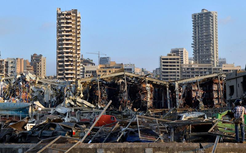 Beirut's harbour has been decimated - EPA