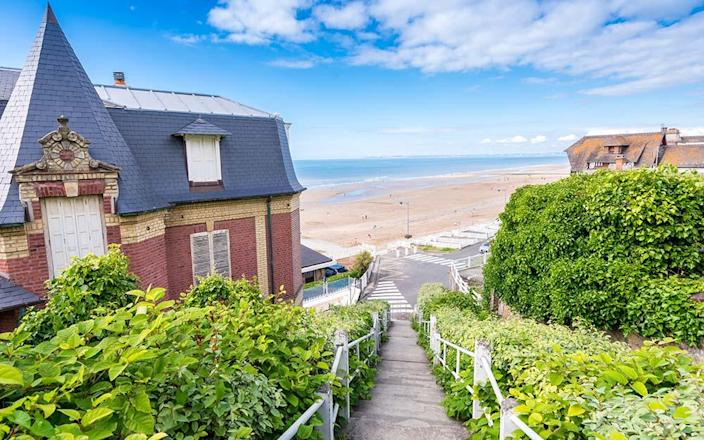 """The first stop on this """"European Grand Tour"""" was the pretty seaside town of Deauville – cue a minor domestic about which route to take - getty"""