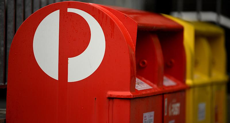 Australia Post boxes are pictured.