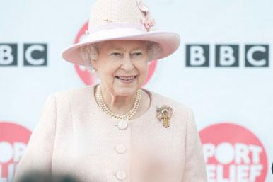 Queen at launch of Sports Relief
