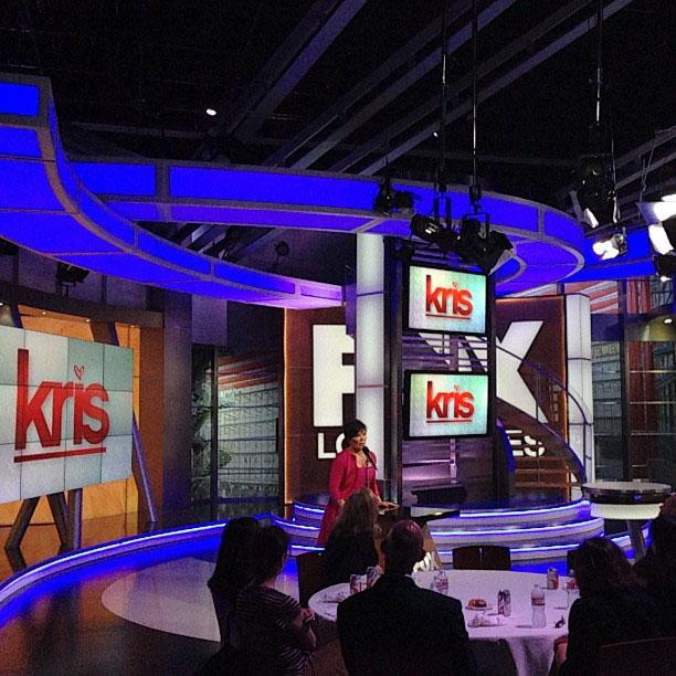 Thanks for the great day at Upfronts FOX!!! Love the Kris Show logo!!! So excited!! #July15