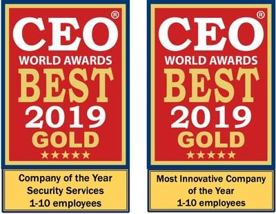 24By7Security Wins Two Gold Awards for Innovation and Security Services at 2019 CEO World Awards
