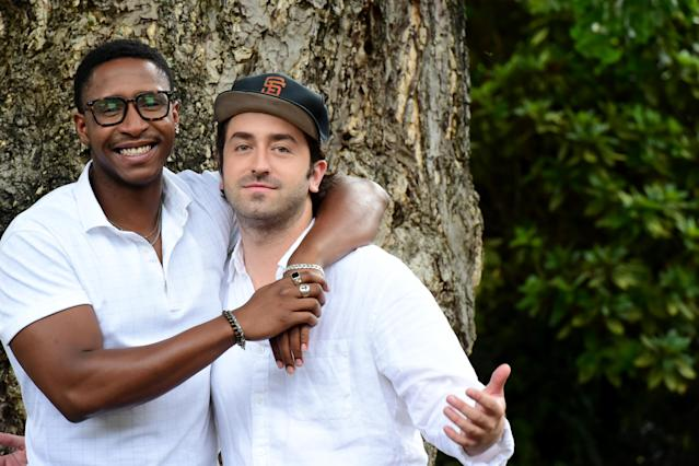 Actor Jimmie Fails and Director Joe Talbot attend the 'The Last Black Man in San Francisco' photocall during the 72nd Locarno Film Festival, 2019. (Pier Marco Tacca/Getty Images)