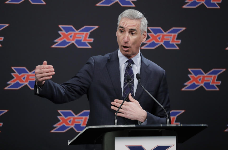 The XFL has announced the rules for its upcoming draft. (AP Photo/Ted S. Warren)
