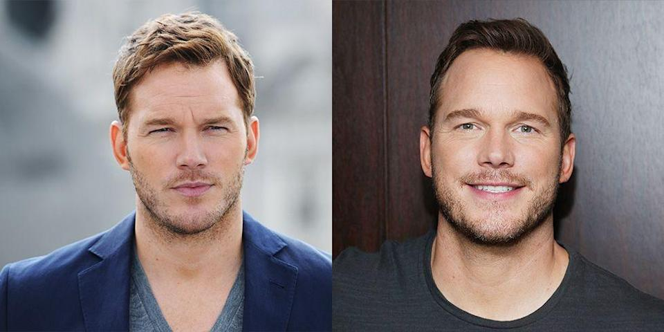 <p>Since becoming an action star, Chris Pratt has adopted an intense gaze that he uses on the red carpet. But, deep down, we miss his adorable smile. </p>