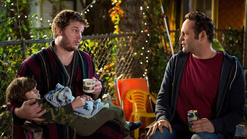 Chris Pratt and Vince Vaughn in Delivery Man.