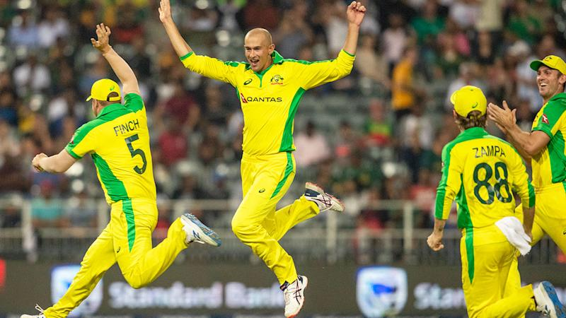 Seen here, Ashton Agar celebrates a wicket against South Africa.