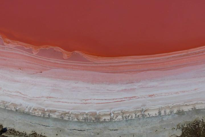 best drone photos pink lake