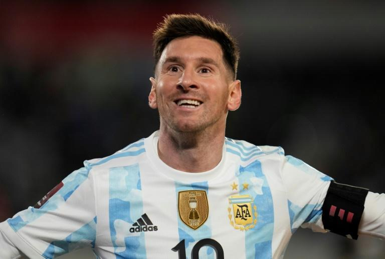 Lionel Messi scored a hat-trick for Argentina in World Cup action but will have to wait for his PSG home debut (AFP/Natacha Pisarenko)