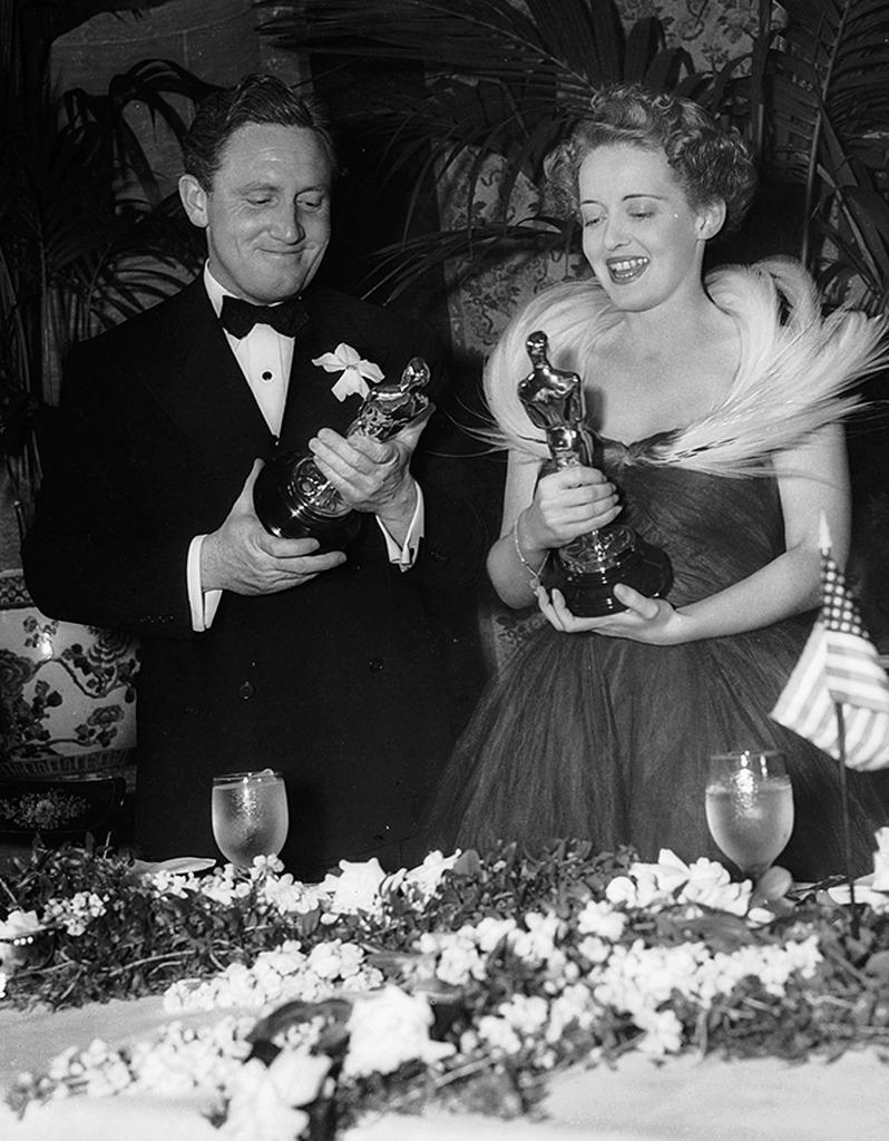 <p>Like his longtime on- and off-screen leading lady, Katharine Hepburn, Tracy was a serial no-show. By his own count, the no-frills, two-time Oscar winner attended the ceremony only once as a nominee, in 1939, when he took home the gold for <i>Boys Town</i>. Tracy died before the 1968 show, at which he was up for his ninth and final career nomination, for <i>Guess Who's Coming to Dinner</i>. </p><p>(Tracy with Bette Davis at 1939 Oscars; photo: Getty Images)</p>