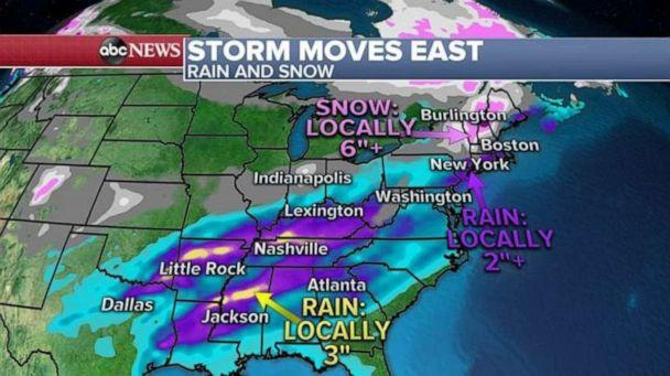 PHOTO: Snow could be heavy in northern New England Sunday morning and, locally, more than a half foot is possible. (ABC News)