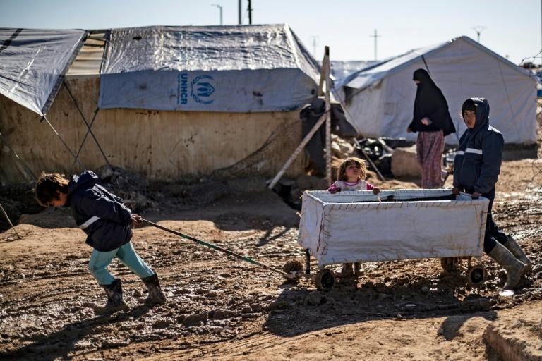 Malnutrition, poor healthcare and hypothermia during the harsh winter months are among the main causes of death for children in Syria's overstretched Al-Hol camp, which houses displaced people and relatives of jihadist prisoners (AFP Photo/Delil SOULEIMAN)