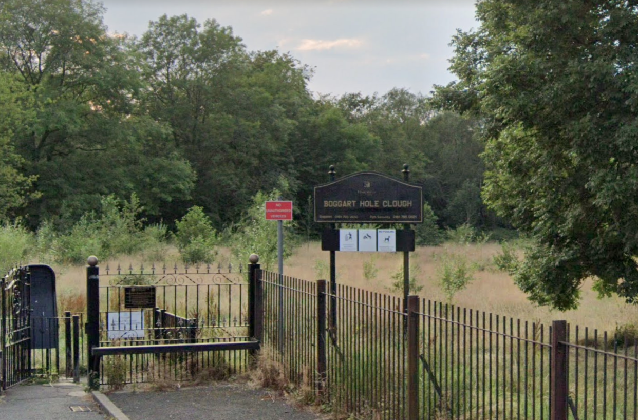 Greater Manchester Police (GMP) officers were called just after 9.30pm to reports that a 17-year-old girl had been  attacked while walking her dog on Boggart Hole Clough.