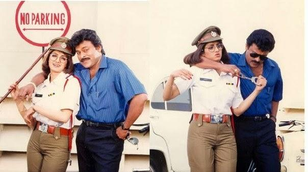 <p>And here she is as a traffic cop in S. P. Parasuram, with Chiranjeevi </p>