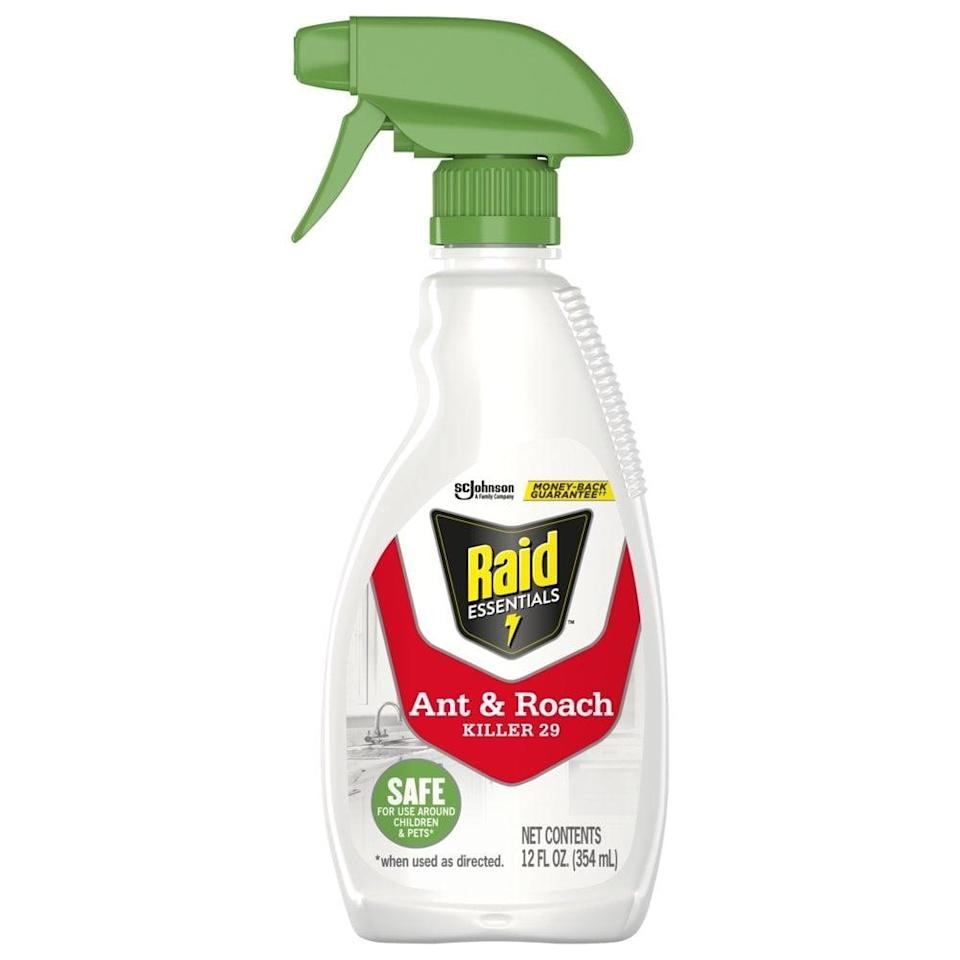 """<p>Ants are a pesky summertime problem to have, so this <a href=""""https://www.walmart.com/ip/Raid-Essentials-Ant-Roach-Killer-29-12-oz-Trigger-Spray/464799056"""" class=""""link rapid-noclick-resp"""" rel=""""nofollow noopener"""" target=""""_blank"""" data-ylk=""""slk:Raid Essentials Ant &amp; Roach Killer"""">Raid Essentials Ant &amp; Roach Killer</a> ($7) is essential in the hot months.</p>"""