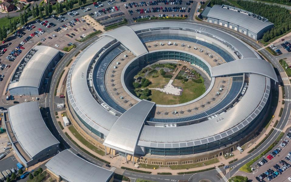 An aerial view of GCHQ's buildings in Cheltenham - Getty