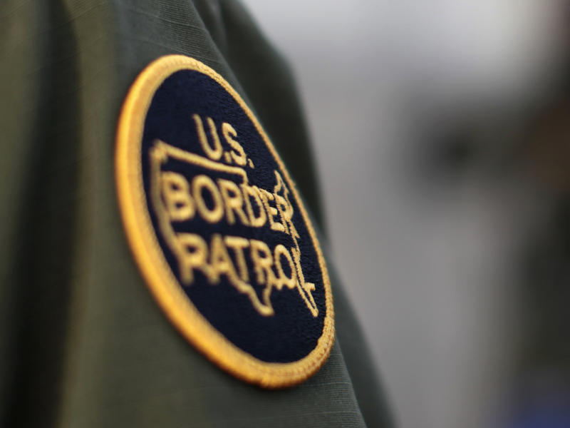 A US Customs and Border Protection agent: REUTERS