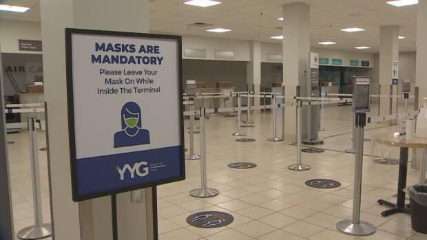 The Charlottetown airport has been operating at a fraction of its normal pace during the COVID-19 pandemic.